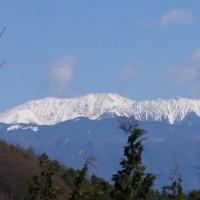 信州のアルプスは白くなり冬到来です♪