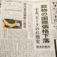 穀物の国際価格下落 歴史的豊作