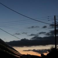早春の夕暮