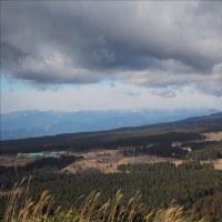 愛鷹山は残念ながら曇天、富士山が望めませんでした。