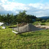 里山の直販所(多目的施設)の基礎工事が進んでいます!