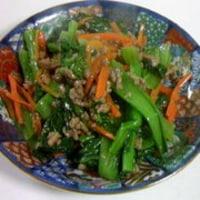 チンゲン菜の炒め物(15分)