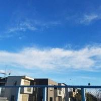 冬晴れ,雪雲