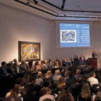 ロンドンのクリスティーズ、20世紀の絵画で£1億4950万!
