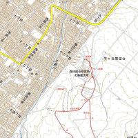 西岡焼山のGPSトラック