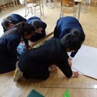 ふるさとの川を調べよう~まとめ~ Kawayu junior high school students