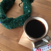 毛糸のクリスマスリース(予定)