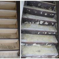 階段床リフォーム ノンスリップシート工事