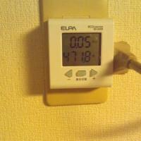 ワットモニターをエアコンにつけてみました。