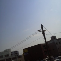 2017/3/28   午前10時過ぎ札幌の空模様 今日は牡羊座の新月(am11:57)
