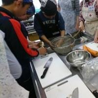 2017年4月29日のふれあいキッチン「ハラクッチー」は里芋と鶏肉の煮物でした