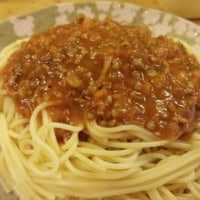今日は、スパゲッティ