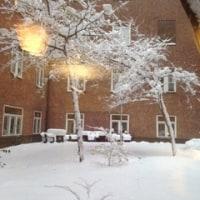 大雪のストックホルム