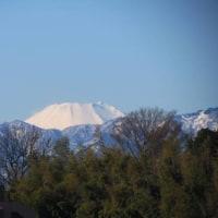 この辺からはどこでも見える富士山です