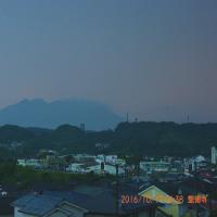 10月17日、朝の桜島