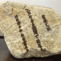 石への刺繍