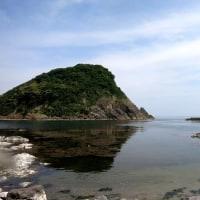 今日の香住今子浦と黒島とかえる岩。透明度15M!!