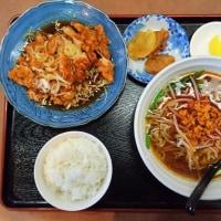八街市 中華料理長城の油淋鶏ランチセット