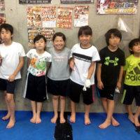 2017.6.26 少年部キッククラス、今日の練習