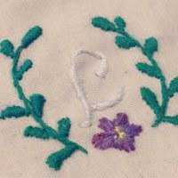 初 刺繍♪