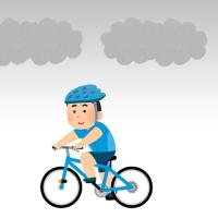 今朝も早朝サイクリングだ・・・
