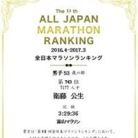 日記0274:全日本マラソンランキング