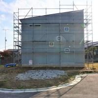 良い家を造って売りたいプロジェクト!大原の当社分譲地『 2Fが Living の家 』。は外装仕上工事に入ります!