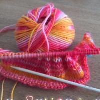 編み編み…たのしい(o^^o)
