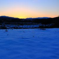 金沢市南部丘陵の夜明け 共産党27回大会閉幕