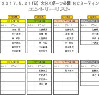 5/21(日)ORM エントリー状況