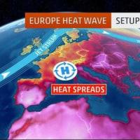 ヨーロッパ広域で記録的熱波。路面が溶ける!