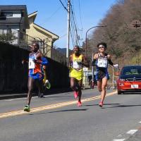 青梅マラソンを見に行った。