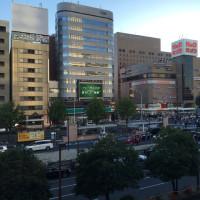 新幹線の車窓から 〜 名古屋駅前