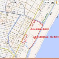 東日本大震災。標高15メートルの海岸公園冒険広場に避難。宮城県仙台市
