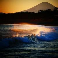『照ヶ崎』 冬の波