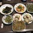 我が家の夏野菜の夕食メニュー お腹一杯になったよ。