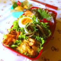 ポテトミートグラタン&焼き鮭弁当