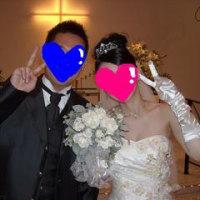 結婚式の写真。