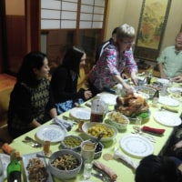 感謝祭でアメリカの家庭料理をご馳走になりました。