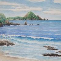 暑い夏ー海の絵、ヒロシマの絵