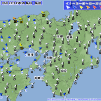 6月21日 アメダスと天気図。