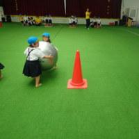 あお 3歳児 製作・体育館活動