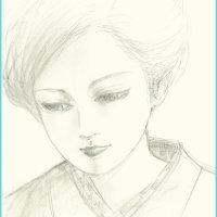 美人画「月光」