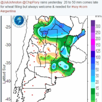 やっぱりアルゼンチンに雨が降ったんだ!