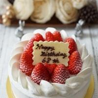 父のお誕生日ケーキ&胡麻エクレア試作♪