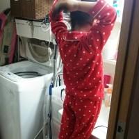娘の朝の準備