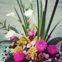 演台のお花♪