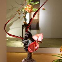 いけばな小原流展 華のおもてなし「白い秋」・・・・山本 菜保子さんの作品