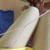 ドラフトがかかったまっすぐで編みやすい双糸を紡ぐ