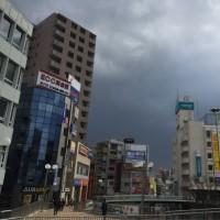 強風→外出